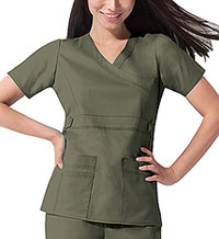 Dickies Mock Wrap Top Olive (817355-OLIZ)