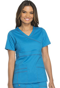 Dickies Mock Wrap Top Riviera Blue (817355-RVBZ)