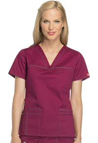 Dickies V-Neck Top Mulberry (817455-MBRY)