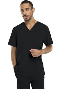 Men's V-Neck Top Black (81910-BLKZ)