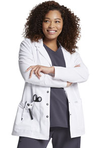 Dickies 28 Snap Front Lab Coat White (82400-DWHZ)