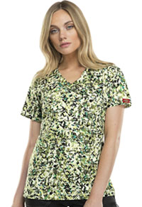 Dickies Mock Wrap Top Send In The Troops (82724-SITP)