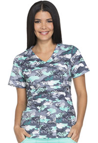 Dickies Mock Wrap Top Wild About Camo (82724-WACA)