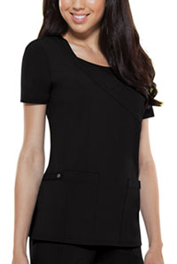 Dickies Mock Wrap Top Black (82814-BLKZ)