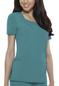 Dickies Mock Wrap Top Teal (82814-DTLZ)