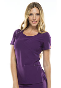 Dickies Mock Wrap Top Eggplant (82814-EGPZ)
