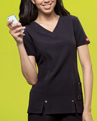 Dickies V-Neck Top Black (82851-BLKZ)