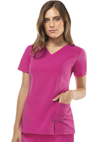 Dickies V-Neck Top Hot Pink (82851-HPKZ)