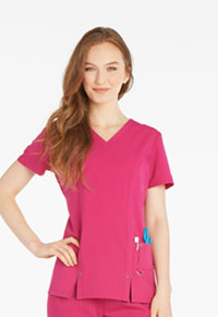 Dickies V-Neck Top Berry (82851-MLBZ)