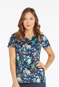 Dickies V-Neck Top Brush Stroke Blooms (82859-BUSS)