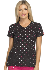 Dickies V-Neck Top Polka Dot Party (82859-POLY)