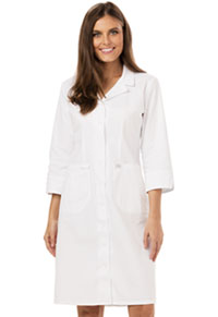 Dickies Button Front Dress White (84503-DWHZ)