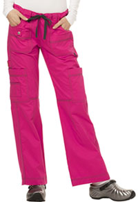 Low Rise Drawstring Cargo Pant Hot Pink (857455-HPKZ)