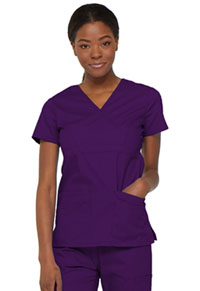 Dickies Mock Wrap Top Eggplant (85820-EGWZ)