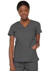 Dickies Mock Wrap Top Pewter (85820-PTWZ)