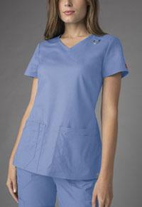 Dickies V-Neck Top Ciel Blue (85948A-CIWZ)