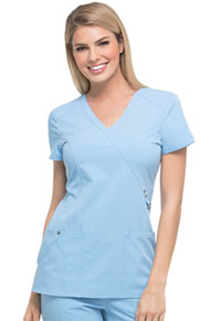 Dickies Mock Wrap Top Sky (85956-SKYZ)