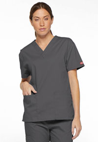 Dickies V-Neck Top Pewter (86706-PTWZ)