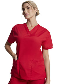 Dickies V-Neck Top Red (86706-REWZ)
