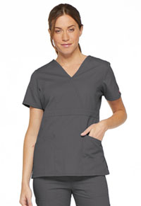 Dickies Mock Wrap Top Pewter (86806-PTWZ)