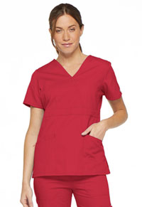 Dickies Mock Wrap Top Red (86806-REWZ)