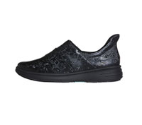 Infinity Footwear Leather Footwear Black on Black (BREEZE-BKBK)