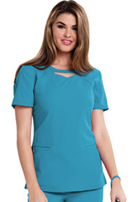 Careisma Round Neck Top Aqua Rush (CA602-ARH)