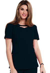 Careisma Round Neck Top Black (CA602-BLKZ)