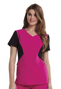 Careisma V-Neck Top Hot Magenta (CA605-HGBK)