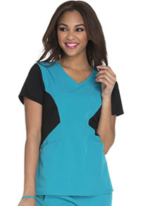 Careisma V-Neck Top Teal (CA605-TLBK)