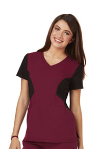 Careisma V-Neck Top Wine (CA605-WNBK)