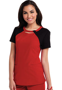 Careisma Round Neck Top Red (CA606-REBK)