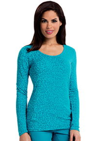 Careisma Long Sleeve Underscrub Knit Tee So Haute Aqua Rush (CA608X13-SHAR)