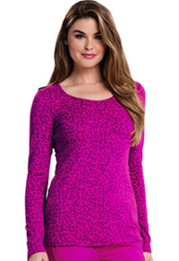 Careisma Long Sleeve Underscrub Knit Tee So Haute Hot Magenta (CA608X13-SHHM)