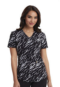 Careisma Mock Wrap Top Stay A Wild Black (CA610X3-STWD)
