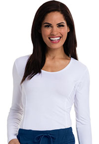 Careisma Long Sleeve Underscrub Knit Tee White (CA612A-WTPS)