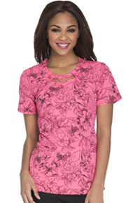 Careisma Round Neck Top Flower Fiesta (CA616-FFTS)