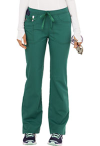 Code Happy Mid Rise Moderate Flare Leg Pant Hunter Green (CH000A-HUN)
