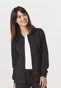 Code Happy Zip Front Warm-Up Jacket Black (CH312A-BCKH)