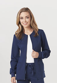 Code Happy Zip Front Warm-Up Jacket Navy (CH312A-NAYH)