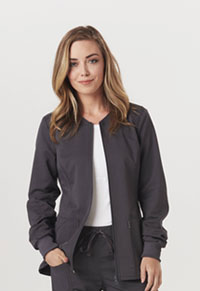 Code Happy Zip Front Warm-Up Jacket Pewter (CH312A-PEWH)