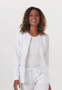 Code Happy Zip Front Warm-Up Jacket White (CH312A-WHIH)