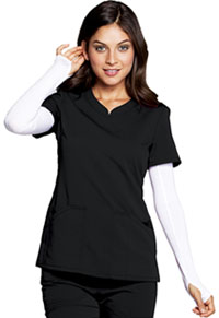 Code Happy V-Neck Top Black (CH602A-BCKH)