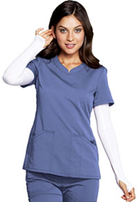 Code Happy V-Neck Top Ciel Blue (CH602A-CIE)