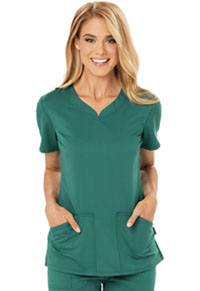Code Happy V-Neck Top Hunter Green (CH602A-HUN)