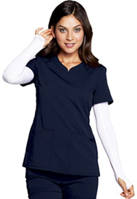Code Happy V-Neck Top Navy (CH602A-NAYH)