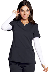 Code Happy V-Neck Top Pewter (CH602A-PEWH)