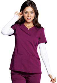 Code Happy V-Neck Top Wine (CH602A-WIN)