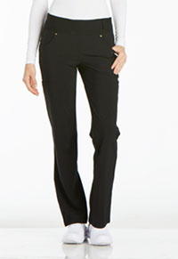 Mid Rise Straight Leg Pull-on Pant (CK002P-BLK)