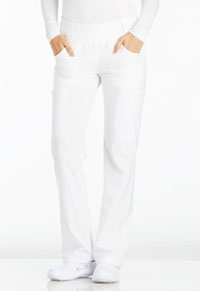 Mid Rise Straight Leg Pull-on Pant (CK002P-WHT)